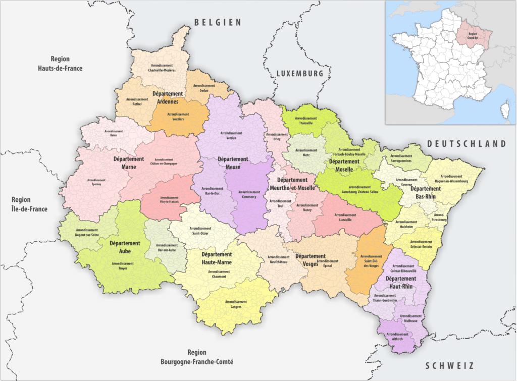 Risikogebiet Frankreich Karte